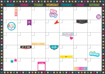 Clingy Chalkboard Brights Calendar Set