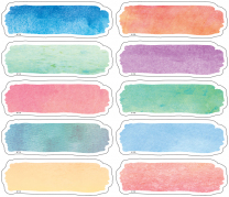 Watercolour Magnetic Labels