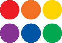 Spot on Carpet Markers - Colourful Circles (10cm)