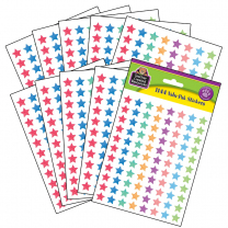 Watercolour Stars Spot Stickers Variety Pack