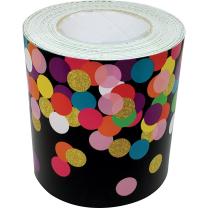 Confetti on Black Trimmer Roll