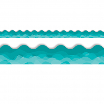 Pacific Ocean Waves of Teal Trimmer