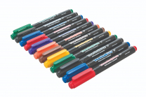 Teachables Thinline Permanent Assorted Colours Markers - Pack of 12