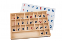 Wooden Alphabet Sorting Tray