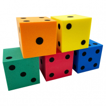 Foam Dot Dice 4cm - Pack of 5