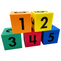 Foam Numbered Dice 4cm - Pack of 5