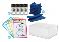 Write & Wipe Sleeve Classroom Kit