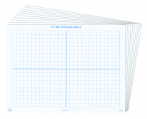 Coordinate Grid Write & Wipe Boards