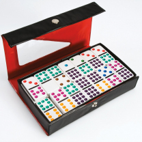Coloured Dot Dominoes - 55 pieces