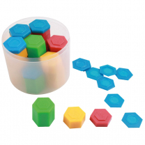 Hexagonal Plastic Weights - Set of 54