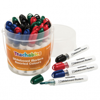 Teachables Whiteboard Assorted Colours Markers - Pack of 30