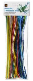 Metallic Twistable Ties - Pack of 150