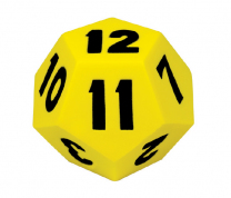 Giant 12-Sided Numbered Foam Dice