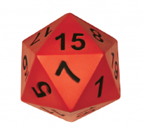 Giant 20-Sided Numbered Foam Dice