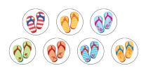Jandals Spot Stickers