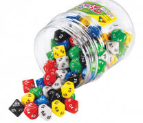 Large 10-sided Decimal Dice - Set of 5