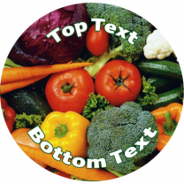 Fruit & Veges Personalised Stickers