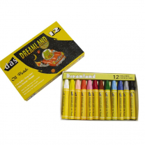 Coloured Oil Pastels Standard - Set of 12