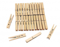 Wooden Pegs - Pack of 30