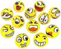 Emoji Yellow Squeeze Balls - Pack of 6